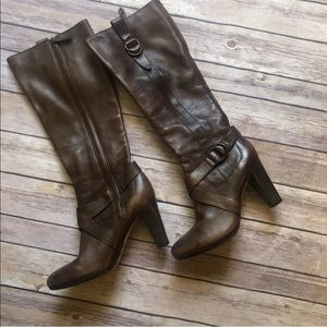 Cole Haan Nike Air Tall Leather Heeled Boots 6.5
